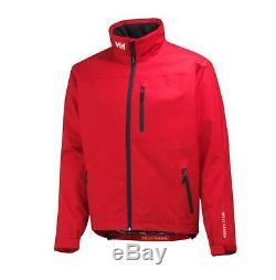 Helly Hansen Crew Midlayer Fleece Lined Waterproof Jacket 30253/162 Red NEW