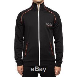 Hugo Boss Men's Sport TrackSuit Zip Up Sweatshirt Jacket & Pants Set Black