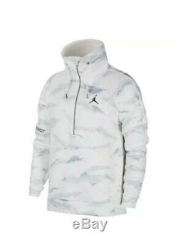 Jordan Sportswear Flight Tech Winter Camo Anorak Jacket Sherpa Size L AH6163-121