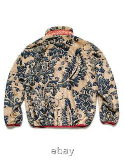 KAPITAL DAMASK light fleece zip up blouson beige Light weight Rare Limited