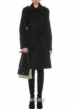 Karen Millen Black Winter Coat Military Trench Tailored Long Wool Jacket 8 to 16