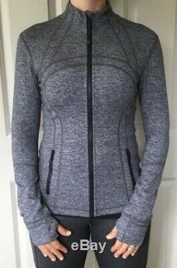 LULULEMON Size 8 Define Jacket Luon Heathered Black HBLK Zip Up Run Yoga NWT