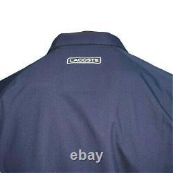 Lacoste Sport Mens Jacket Navy Blue Medium 50 Removable Sleeves Big Croc Rare