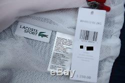 Lacoste Sport WH9512 $250 Mens Athletic Red Track Jacket & Pants Tracksuits L 5
