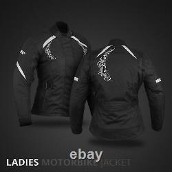 Ladies Motorbike Jacket Coat Waterproof Women Motorcycle Touring Jacket Black