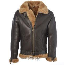Leather jacket for men cafe racer retro vintage biker bomber motorcycle aviator