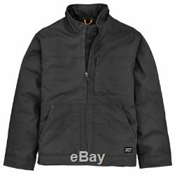 MEN'S TIMBERLAND PRO BALUSTER Insulated Canvas Work Jacket Black / Wheat