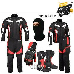 Men Motorcycle Suit Motorbike Riding Textile Touring Suits CE Armored Waterproof