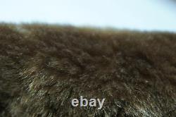 Men REAL GENUINE Sheepskin Shearling Leather Car Coat Bomber Jacket S-5XL, NWT