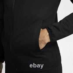 Men's Nike Full Tracksuit Bottoms Zip Jacket Black Pants Top Dri-FIT Size Large