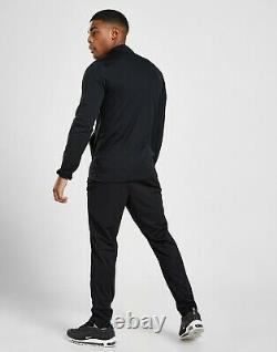Men's Nike Tracksuit Zip Jacket Bottoms Black Top Pants Academy Dri-FIT Medium