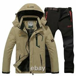 Men's Thermal Ski Clothes Set Breathable Waterproof Outdoor Jacket And Pants New