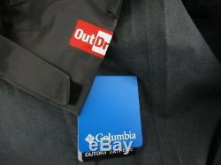 Mens Columbia Outdry Explorer Hooded Hybrid Waterproof Rain Jacket NWT Black