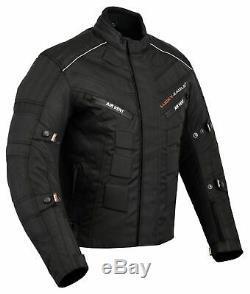 Mens Motorbike Cordura Jacket Motorcycle Waterproof Biker Textile Top CE Armours