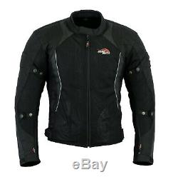 Mens Motorcycle Summer Mesh Cordura Textile Jacket Motorbike Armour CE Protector