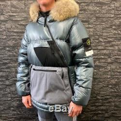Mens Stone Island Pertex Quantum Y Down Puffer Jacket, Size Large, BNWT