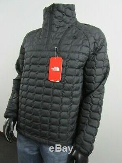 Mens TNF The North Face Thermoball Insulated Zip Pullover Puffer Jacket Black