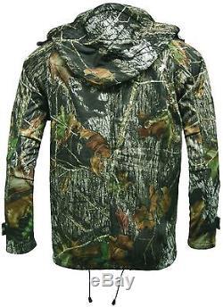 Mens Waterproof Camouflage Jacket Mossy Oak Camo HuntingFishingShooting Jacket