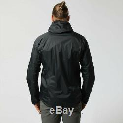 Montane Mens Atomic Outdoor Jacket Top Black Sports Outdoors Full Zip Hooded