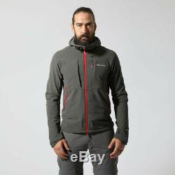 Montane Mens Dyno Stretch Outdoor Jacket Top Grey Sports Outdoors Full Zip