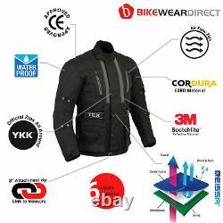 Motorbike Motorcycle Jacket With Armour Waterproof Thermal Textile Mens Biker CE
