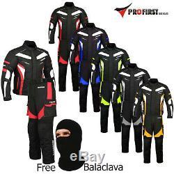 Motorbike Suit Motorcycle Jacket Trouser Full Waterproof CE Armour Racing