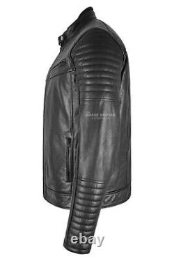 Motorcycle Leather Jacket With Armours Protection Motorbike Biker Leather Jacket
