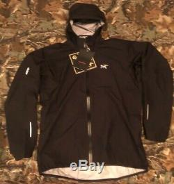 NEW ARCTERYX Norvan Gore- Tex Jacket Color Black Mens Size Large RARE Sold Out