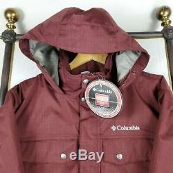 NEW COLUMBIA Size XL Mens Winter Ski/Board Jacket Coat Hooded Full Zip $200 NWT