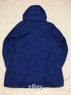 NEW Marmot Heavy Duty Precip Blue Waterproof Ripstop Rain Jacket Mens Small NWOT