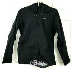 NEW Patagonia Mens Torrentshell Rain Coat Jacket Black Waterproof Size Medium