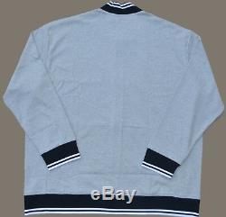 NEW XL POLO RALPH LAUREN baseball bomber Jacket Mens varsity Gray black X-Large