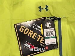 NWT $199.99 Under Armour Men Storm Hurakan Gore-Tex Paclite Jacket Yellow LARGE
