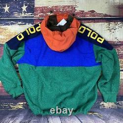 NWT $228 Mens Polo Ralph Lauren Polar Sherpa Anorak Hoodie Pullover Jacket Sz XL