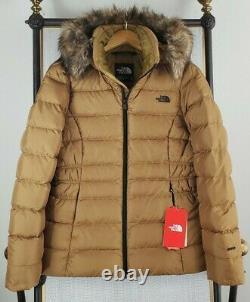 NWT $230 THE NORTH FACE Size Medium 550 Down Gotham Jacket Womens Brit Khaki