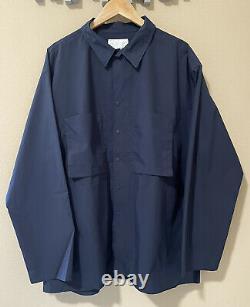 NWT $350 nanamica Organic Cotton-Blend Overshirt Navy, Large