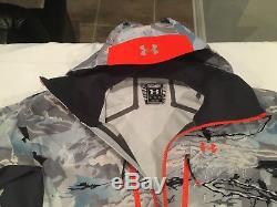 NWT $499.99 Under Armour Mens Ridge Reaper Gore-Tex Jacket Hydro Camo Gray XL