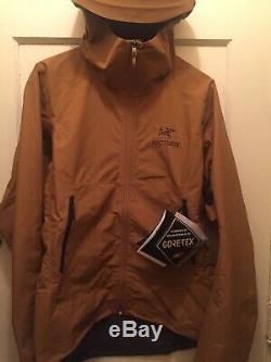 NWT Arc'teryx Zeta SL Jacket Mens Large Yukon NWT Goretex Brown $299 New