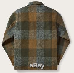 NWT Filson Mackinaw Jac Shirt Dark Military Plaid Medium M Jacket