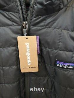 NWT Patagonia Mens Nano Puff Hoody Zip Jacket Medium Forge Grey $249 84222