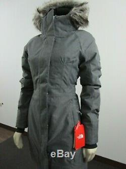NWT Womens The North Face TNF Arctic Parka II 550-Down Warm Winter Jacket Grey