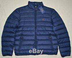 New 2XLT 2XL TALL 2XT POLO RALPH LAUREN Mens packable puffer down jacket coat RL