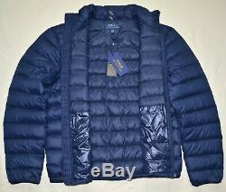 New 4XB POLO RALPH LAUREN Mens packable puffer down jacket coat navy 4XL BIG 4X