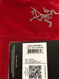 New Arc'teryx Sabre Gore-Tex RECCO Jacket Men's Red Beach XL MSRP $625