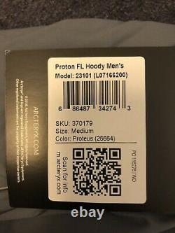 New Arcteryx Proton FL Hoody Mens Medium Proteus (Grey)