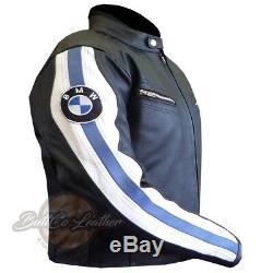 New BMW 3874 Motorcycle Motorbike Biker Original Leather Jacket Armoured Coat