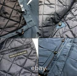 New Barbour Tech Mid Weight Hooded Jacket Waterproof Breathable Blue Men's Sz M