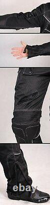 New Biker Outfit Motorcycle Jacket + Trousers Textile Breathable