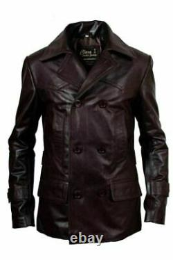 New German Classic Ww2 Men's Military Officer Uniform Leather Jacket Coat