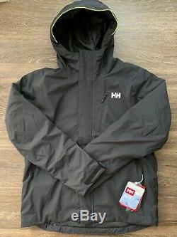 New Helly Hansen Mens Trysil Insulated Waterproof Ski Jacket Black Size XL $300